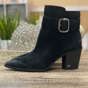 🆕 Sam Edelman Leonia Black Suede Leather Boot